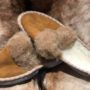 Pantoufles fourrées ouvertes
